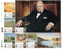 Ukraine 2021, England History, Painter Winston Churchill, Sheetlet Of 6v - Ukraine