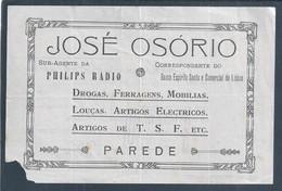 Aviso De Pagamento De Letra Do BES 1939. Correspondent Banco Espirito Santos. Agent Philips Radio. 2ª World War. Estoril - Portugal