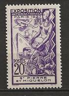 SAINT PIERRE Et MIQUELON 1937. N° 160 . Neuf  ** (MNH) - Unused Stamps