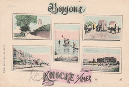 Carte Multi Vues. Bonjour De Knocke  S /Mer  Scan - Knokke