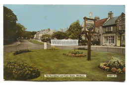 Whitburn - The Roundabout And Front Street - 1978 Used County Durham Postcard - Durham