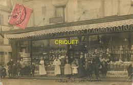 93 Villemomble, Superbe Carte Photo Du Magasin D'alimentation Godard, 1907, Top Document - Villemomble