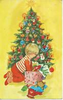 Christmas - New Year 1982 - Children,Teddy Bear,used Postcard 1981 Skopje - Sonstige