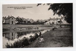 - CPA SAINT-NICOLAS-DE-REDON (44) - Les Bords Du Canal (belle Animation) - Edition Chapeau N° 19 - - Autres Communes