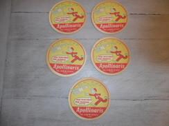 Document ( E 883 )  Reclame  Publicité  -  5 X Sous - Bock  APOLLINARIS   Spirou  Robbedoes  Strip - Sous-bocks
