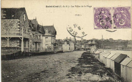 SAINT CAST Les Villas De La Plage + Beaux Timbres 10c X2 RV - Saint-Cast-le-Guildo