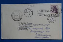 ¤20  AFRIQUE DU SUD   LETTRE  1958   POUR GRONINGEN  NEDERLAND+  + AFFRANCH. INTERESSANT - Other