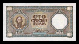 Serbia 100 Dinara 1943 Pick 33 SC-/SC AUNC/UNC - Serbia