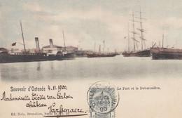 Souvenir D'Ostende - Le Port Et Le Debarcadère 1900 - Oostende