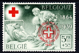 306.BELGIUM.1941  RED CROSS,1939 SC.B240 PRIVATELY OVERPR,MNH,LIGHT GUM BLEMISH - Personalisierte Briefmarken
