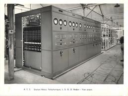 Photo Originale Société Ateliers Electriques De PIERREFITTE -PTT Station Relais Telephonique L.S.G.D. REDON-VUE AVANT - Non Classés