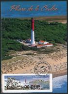 FRANCE (2021) Carte Maximum Card ATM LISA 69 Assemblée PHILAPOSTEL La Tremblade Ronce-les-Bains Phare Coubre Lighthouse - 2010-...