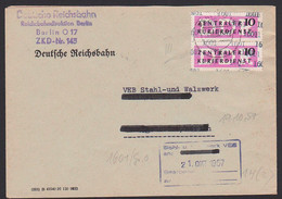 Berlin Brief ZKD Der DDR Kreisaufdruck B 14(2) (1601), Deutsche Reichsbahn ZKD-Nr. 145 1910,57 - Service