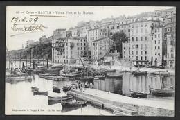 CORSE BASTIA VIEUX PORT ET LA MARINE 1909 N°C104 - Bastia