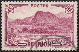 Réunion Obl. N° 135 - Vue -> Salazie, Mare Aux Poules D'eau Et Piton D'Auchain Le 45c Lilas - Usados