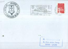 MARCOPHILIE - DETALAT - JEANNE D'ARC - CAMPAGNE 98-99 Flamme Du PH Du  25 - 11 - 98. - Poste Navale