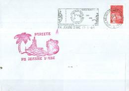 MARCOPHILIE - PH JEANNE D'ARC - Escale à PAPEETE Flamme Du PH Du  17 - 1 - 01. - Posta Marittima