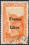 Réunion Obl. N° 222 - Vue -> Bras Des Demoiselles - 5c Orange, Surchargé France Libre - Gebraucht