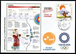 ARGELIA 2021 - Philatelic Cover Archery Tir à L'arc Bogenschießen Olympics Tokyo 2020 Olympische Olímpicos Olympic COVID - Tiro Con L'Arco