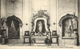 VALLOIRES - CHAPELLE DE L'ABBAYE - STATUES GISANTES DE SIMON DE DAMMARTIN ET DE MARLE DE PONTHIEU - Autres Communes