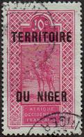 Niger Obl. N° 25 - Targui Le 10c Rose-lilas Sur Azuré - Ungebraucht