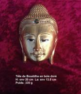 Sculpture Bouddha En Bois - Legni
