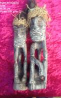Paire De Statues En Bois - Legni