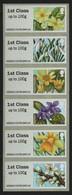 Großbritannien 2014 - Mi-Nr. ATM 65-70 ** - MNH - Blumen / Flowers - Ongebruikt
