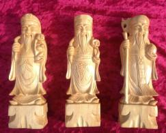 Set De 3 Sages Chinois En Bois Exotique - Legni