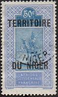 Niger Obl. N° 13 - Targui Le 50c Outremer Et Bleu - Ungebraucht