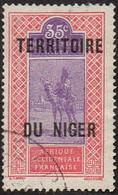 Niger Obl. N° 10 - Targui Le 35c Rose Et Violet - Ungebraucht