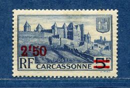 ⭐ France - Variété - YT N° 490 - Couleurs - Pétouilles - Impression Recto Verso - Neuf Sans Charnière - 1940 à 1941 ⭐ - Variedades: 1941-44 Nuevos