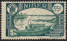 Niger Obl. N° 38A - Embarcation Indigène Sur Le Fleuve 35c Vert Foncé Et Vert - Ungebraucht