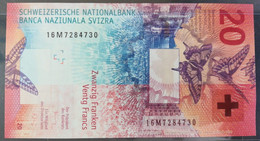 SWITZERLAND - P.76 - 2016 (2) – 20 Francs 2016 UNC- Signatures: Studer & Zurbrügg - Serie 16M7284730 - Switzerland