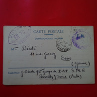 CORRESPONDANCE MILITAIRE CACHET OUVERT EXP GROUPE DE DAT ROMILLY SUR SEINE 1939 - Guerra 1939-45