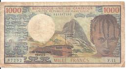 CAMEROUN 1000 FRANCS ND1974 VF P 16 A - Cameroon