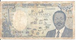 CAMEROUN 1000 FRANCS 1990 VG++ P 26 B - Cameroon