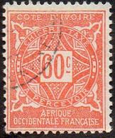 Cote D'Ivoire Obl. N° Taxe 15 - Ornements, Le 60c Orange - Gebraucht