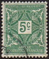 Cote D'Ivoire Obl. N° Taxe  9 - Ornements, Le 5c Vert - Gebraucht