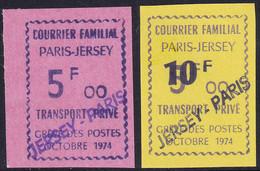 France Grève N°17A/17B 2 Valeurs Surchargées Jersey-Paris   Qualité:** - Strike Stamps