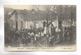 90 - BELFORT - Cercle Catholique. Bénédiction De La Croix. Carte Animée - Belfort - City