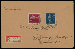 TREASURE HUNT [01276] Germany 1944 Reg. Air Mail Cover From Berlin To Gostingen With 12+8 Pf Carmine + 42+108 Pf Ultra - Storia Postale