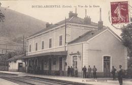 Francia - Loire - Bourg Argental -  Vue De La Gare - F. Piccolo - Viagg - Molto Bella Animata - Bourg Argental