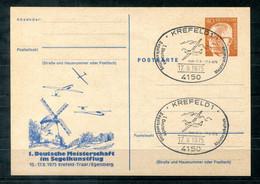 F1230 - BUND - Privat-Ganzsache PP 48/6 (??) - Sonderstempel Segelflug, Bild Windmühle - Privatpostkarten - Gebraucht