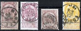 Belgique Belgie 1893 Armoiries N°82 3ex Et 54 Et 55 Yvert 1ex Manage / Tournai / Essohe Voir Scan - 1893-1907 Coat Of Arms