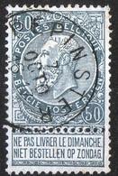 Belgique Belgie 1893 Leopold II Fine Barbe N°62 1ex Cachet Pepinster Voir Scan - 1893-1900 Thin Beard