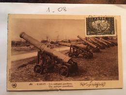 Cpa écrite En 1936, MAROC, RABAT Les Antiques Gardiens, Photo Flandrin, - Rabat