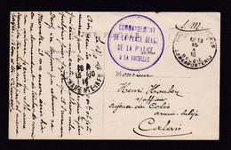 Carte-Vue De LA ROCHELLE - Cachet Violet Commandement De La Place Belge De LA PALLICE à LA ROCHELLE Vers PMB 1916 - Otras Zonas