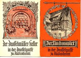 Der Lindenwirt In Der Drosselgasse Zu Rüdesheim, Liederheft - 25 Seiten, Um 1950,  10,5 X 15 Cm - Old Books