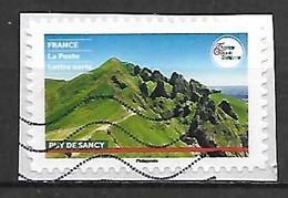 FRANCE   -   2021 .  Puy De Sancy.  Oblitéré Sur Fragment - Adhesive Stamps